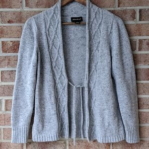 Eddie Bauer Cable Knit Wool and Cashmere cardigan
